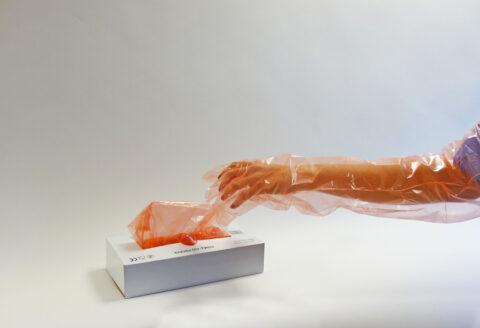 longs gants de vétérinaire en plastique